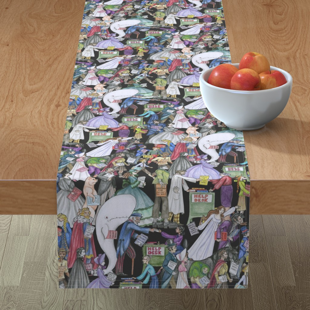 Minorca Table Runner featuring Great Lines of Literature by ceanirminger