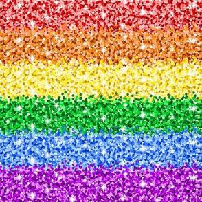 Rainbow Glitter Stripes