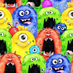 Funny Colorful Scary Monsters