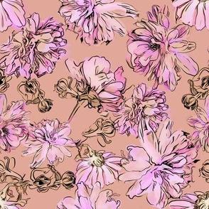 Mums Pattern - Pink
