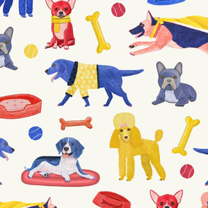 primary dog repeat tile