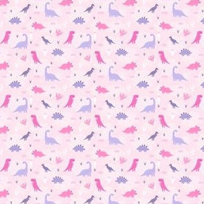 Dinos in pink small
