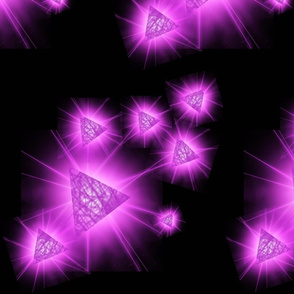 Lg. Radiant Purple Triangles on Black by DulciArt,LLC
