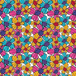 Colorfull psychedelic Flowers