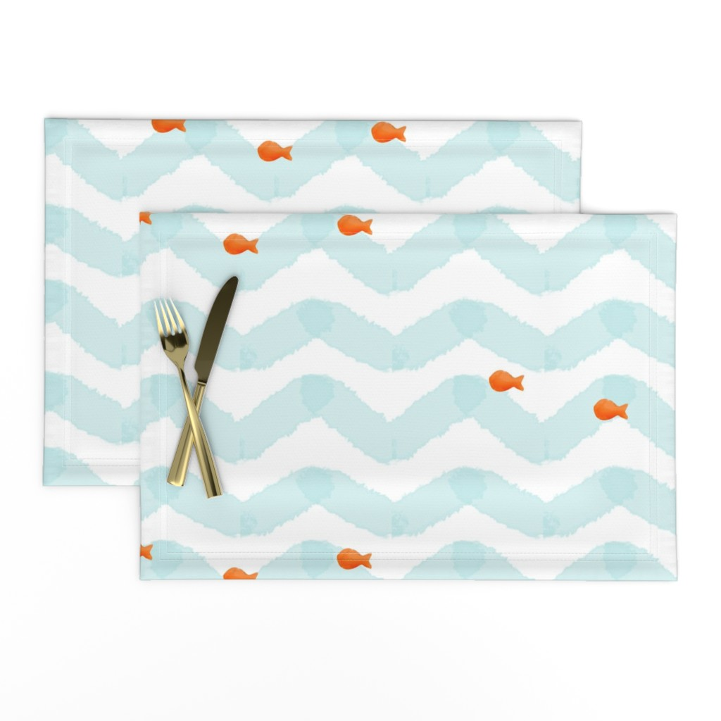 Lamona Cloth Placemats featuring Gold Fish by natitys