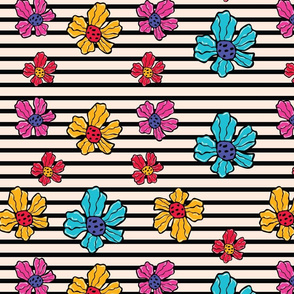 Flower Stripes Pattern