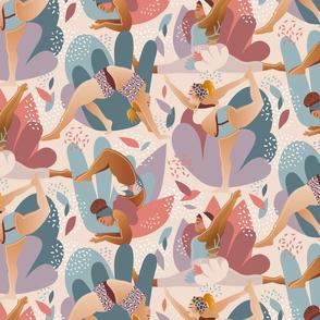 Curvy-yoga, summer power / Large scale
