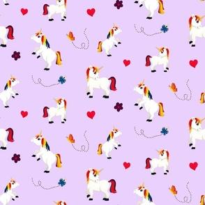 unicorns in lavender
