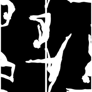 pole dance dancing fitness dancer aerial art arts exotic gogo strip tease sport vertical sports sexy girly girl black white acrobat circus air fly flying monochrome contrast contrasted high silhouette body shape dynamic trick tricks move moves figure fig