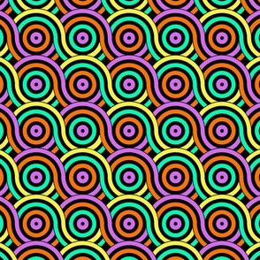 Retro Spiral - pink and green