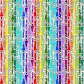Rainbow Clarinet Pattern