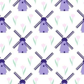 Purple Windmills