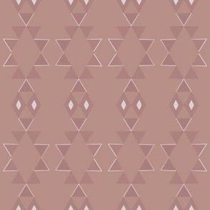 Art Deco Aztec - Dark Pink