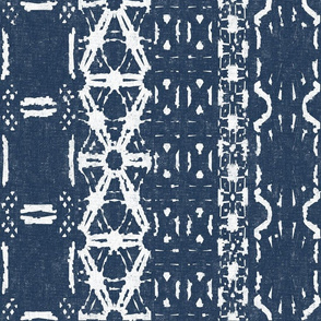 Mud Cloth 3-Blue (large scale)