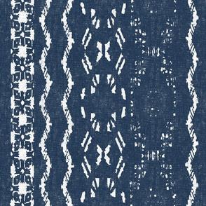 Mud Cloth 9-Blue (large scale)