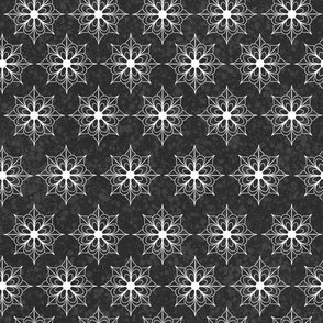 Snowflake Flowers - Dark Gray