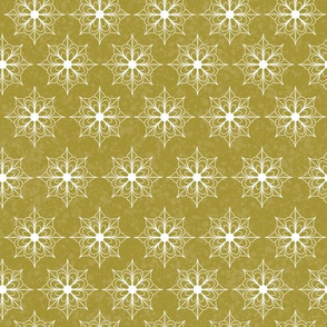 Snowflake Flowers - Gold