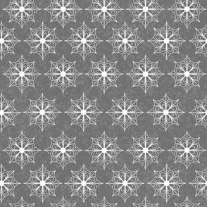 Snowflake Flowers - Gray