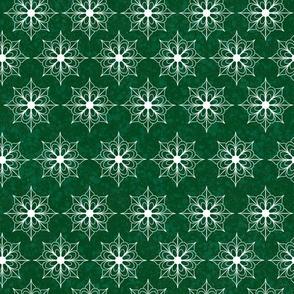Snowflake Flowers - Green