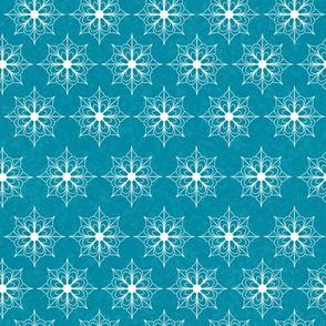 Snowflake Flowers - Light Blue