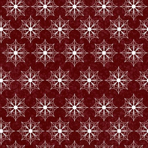 Snowflake Flowers - Red