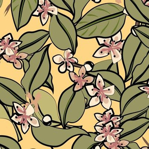 Pears in Blossom yellow