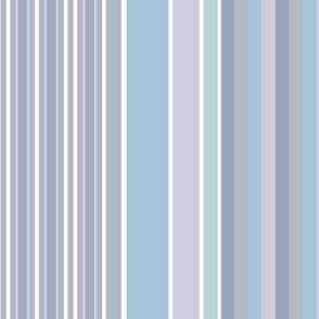 Swanage Winter Stripe Pale