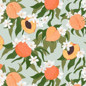 Peaches and Blossoms Mint