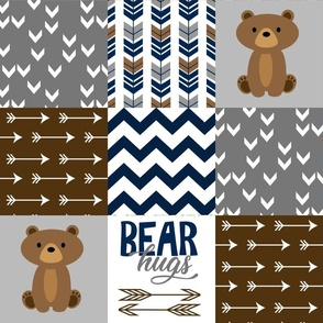 Bear Hug Patchwork Brown