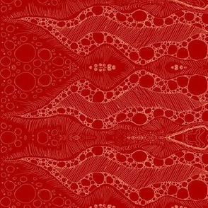 Ink think 2 -Gold on Red