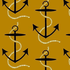 anchors aweigh - gold