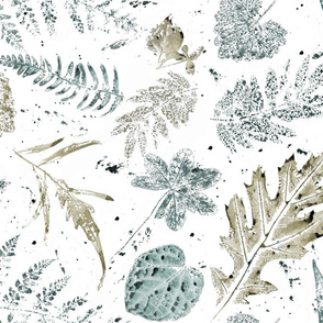 watercolor print leaves jumbo