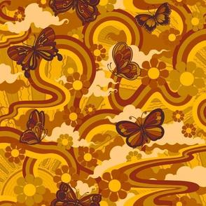 Butterfly trails in Desert