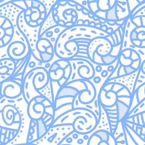 Blue boho spiralize