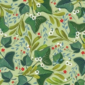 Ivy Twine Floral | Small | Celery Green #bfd09b