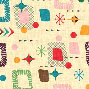 1950s atomic pattern flip 90º