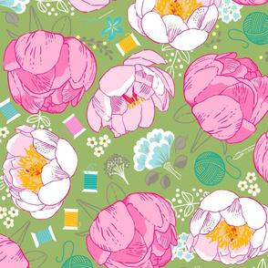 DreamBox-with-Peonies-Green