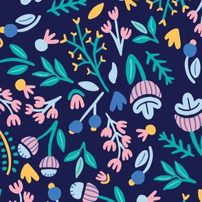 Floral Illustration Dark