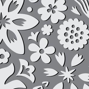 Paper Cut Floral Gray large