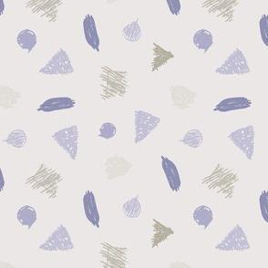 geometrics scribbling cool tones - medium scale