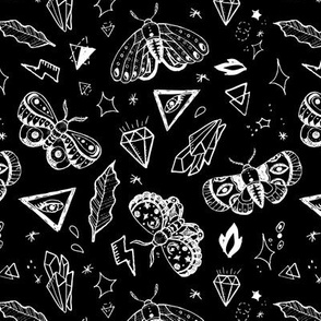 White tattoo butterflies SMALL SCALE