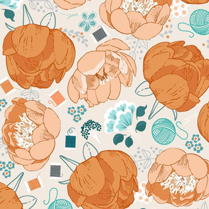 DreamBox-with-Peonies-Rust