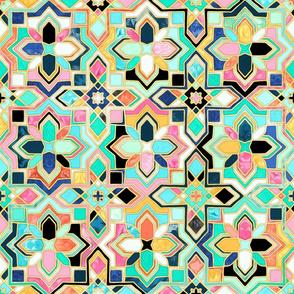Gilded Boho Jeweled Tiles - Large