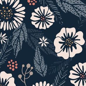 Create Room Navy Floral