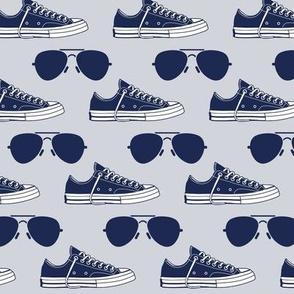 Biden Harris Small Sneakers Aviators Blue 2