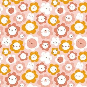 Cute flower characters
