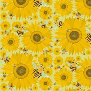 Sunflowers and Bees
