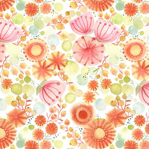 cheerful watercolour floral