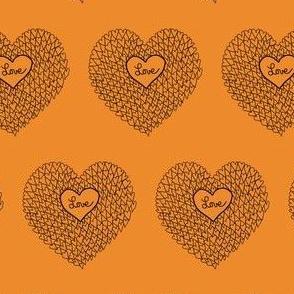 "HE_08368 ""Love"" Apricot Orange"
