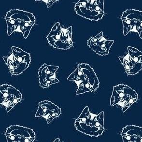 Noble Cat Faces - blue